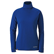 Merino Wool Plus High Neck Shirts Women's