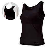 ZEO-LINE Cool Mesh Tank Top Shirt With Bra