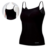 ZEO-LINE Cool Mesh Cami Top Shirt With Bra