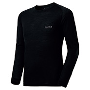 Super Merino Wool Middle Weight Round Neck Shirt Men's