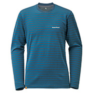 Merino Wool Plus Striped Long Sleeve T Men's