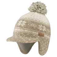 Wool Jacquard Ear Warmer Cap